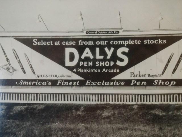 Daly's Pen Shop Billboard