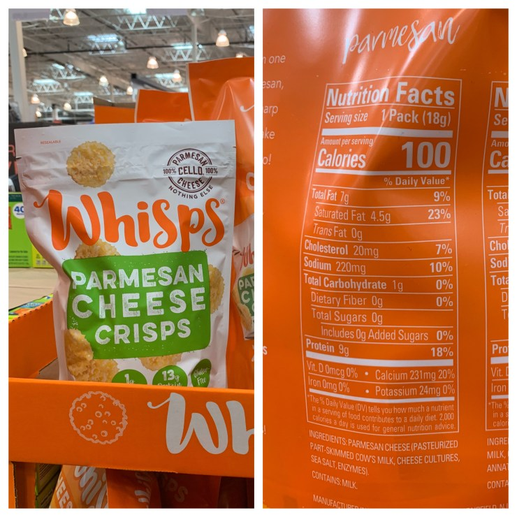 Costco Whisps Parmesan Cheese Crisps