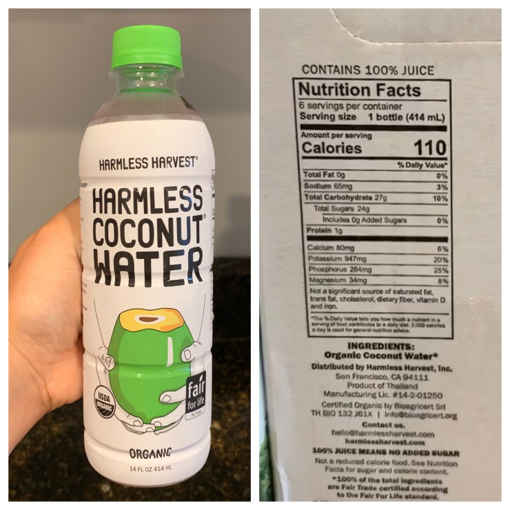 Costco Harmless Harvest Coconut Water