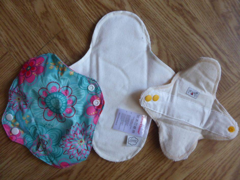 Wasbaar maandverband testpakket Charlie Banana Imse Vimse en MaM achterkant