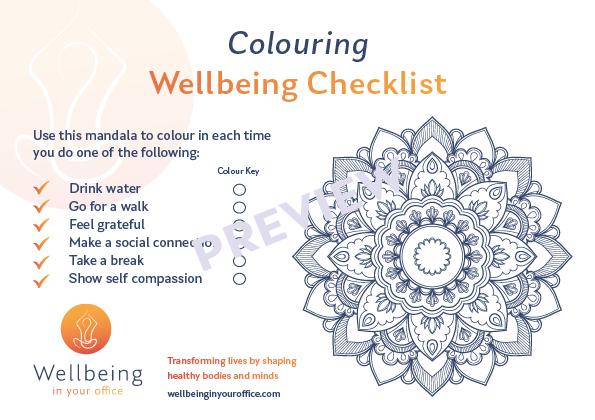 Colouring Mandala Postcard
