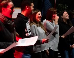 Liverpool indie choir rehearsal (pre-Covid)