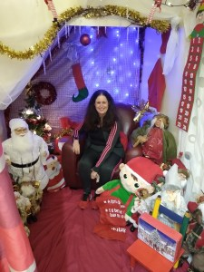 Ruth sitting in the ReLoved Grotto
