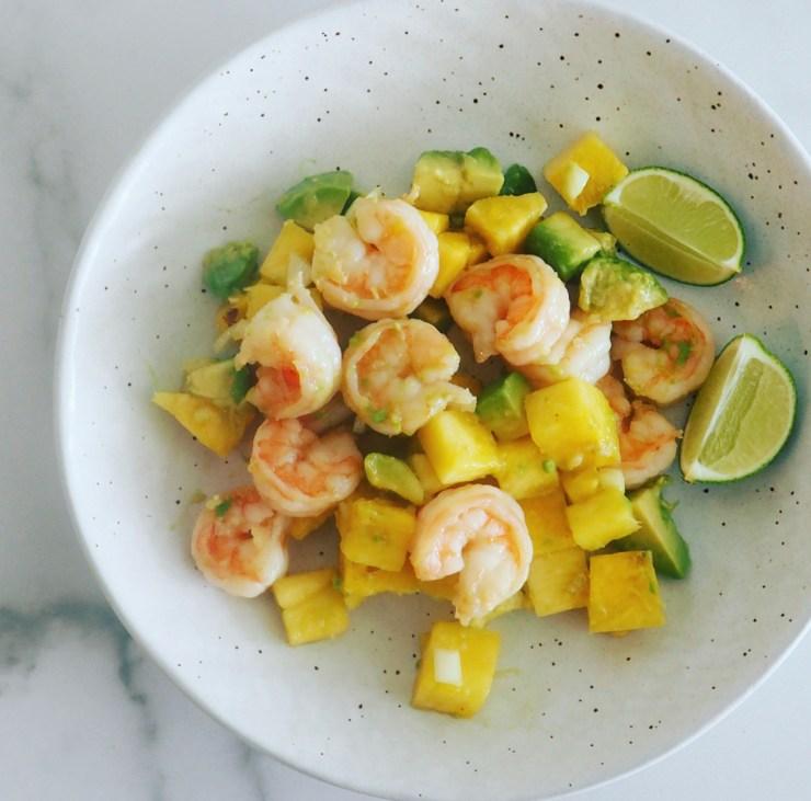 shrimp with mango avocado salsa