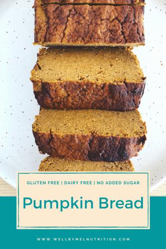 tigernut flour pumpkin bread pin
