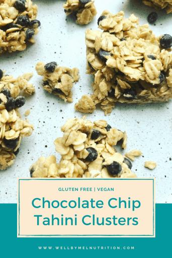chocolate chip tahini clusters
