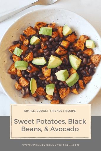 sweet potatoes, black beans, & avocado