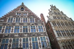 Stunning detail on these Belgian buildings.