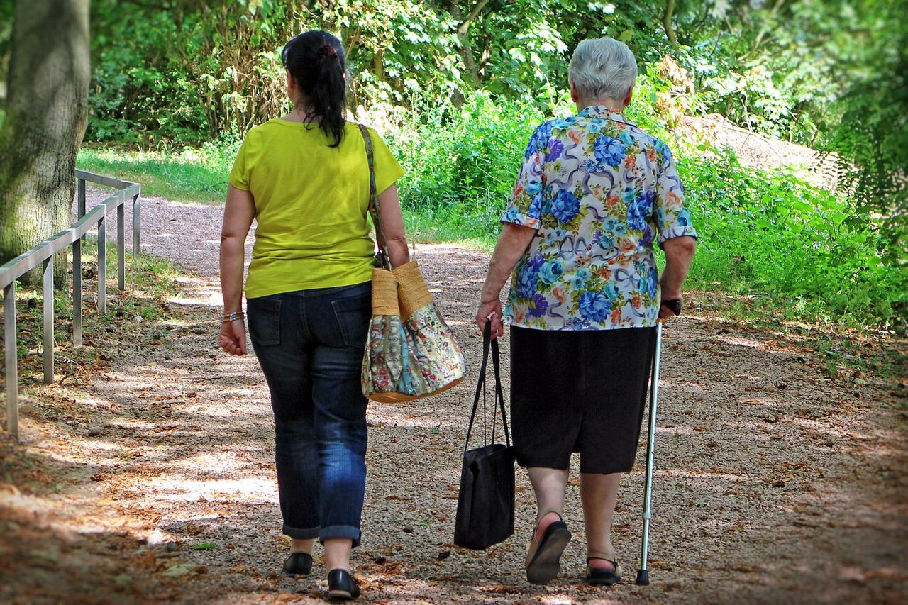 women walking photo