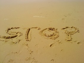 stop - sand-404047_1280