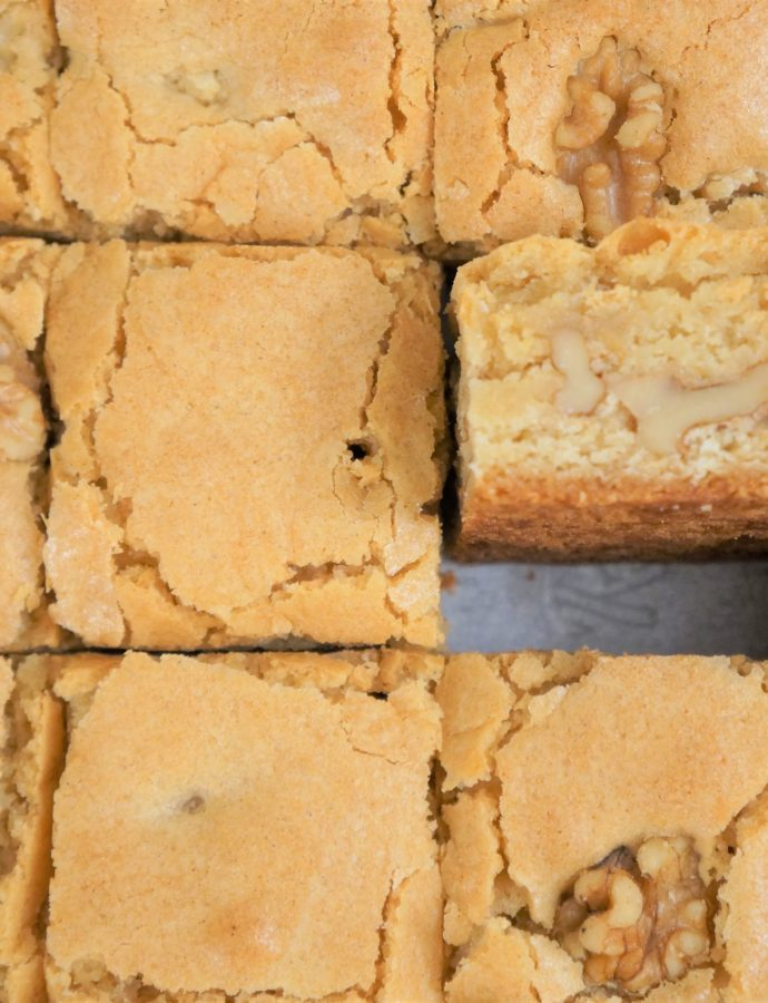 EASY NO-FAIL NUTTY BLONDIES