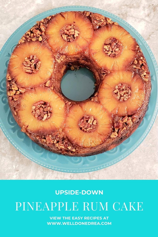 UPSIDE-DOWN PINEAPPLE RUM CAKE PIN