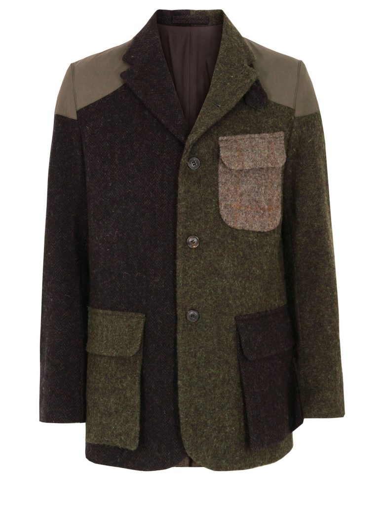"The ""Crazy"" Mallory jacket is made up of quite different variants of Harris Tweed."