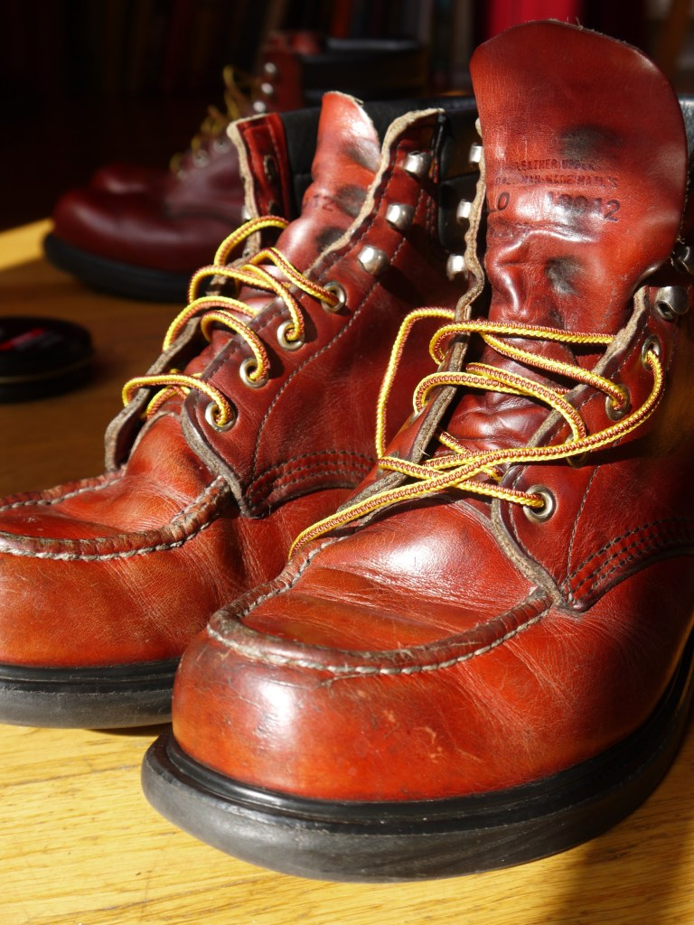 P1010278Well used Red Wing Supersoles buffed up to a top shine.