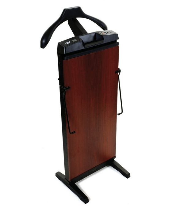 A Corby trouser press, this one with bonus hanger for jacket.