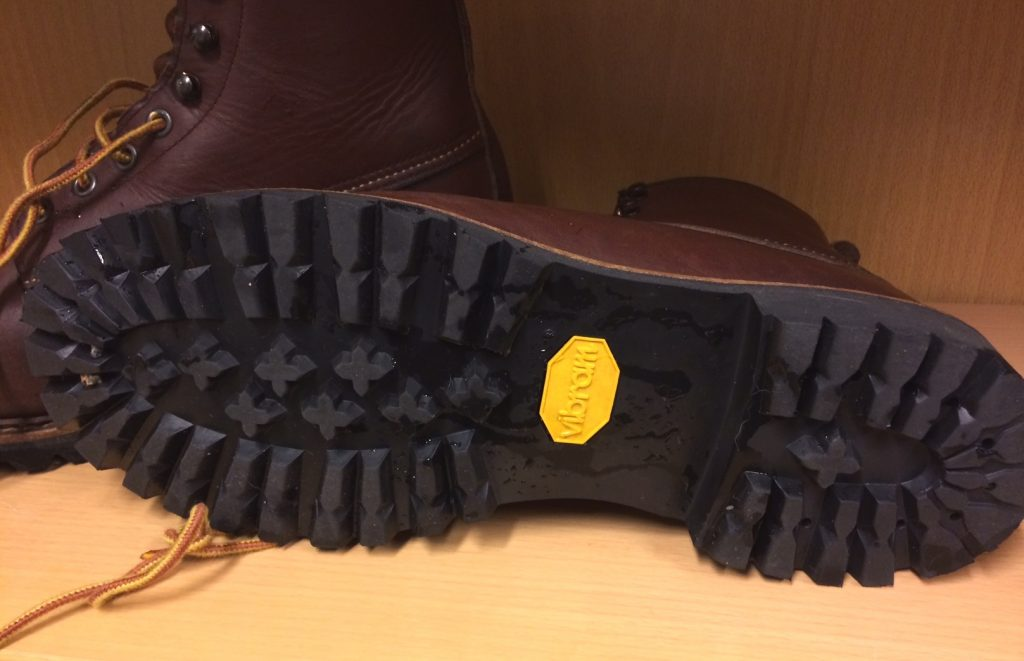 Excellent pattern for all surface grip on the Vibram soles. They do collect gravel though!