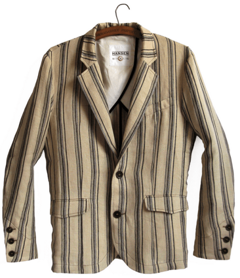 frederik linen striped blazer