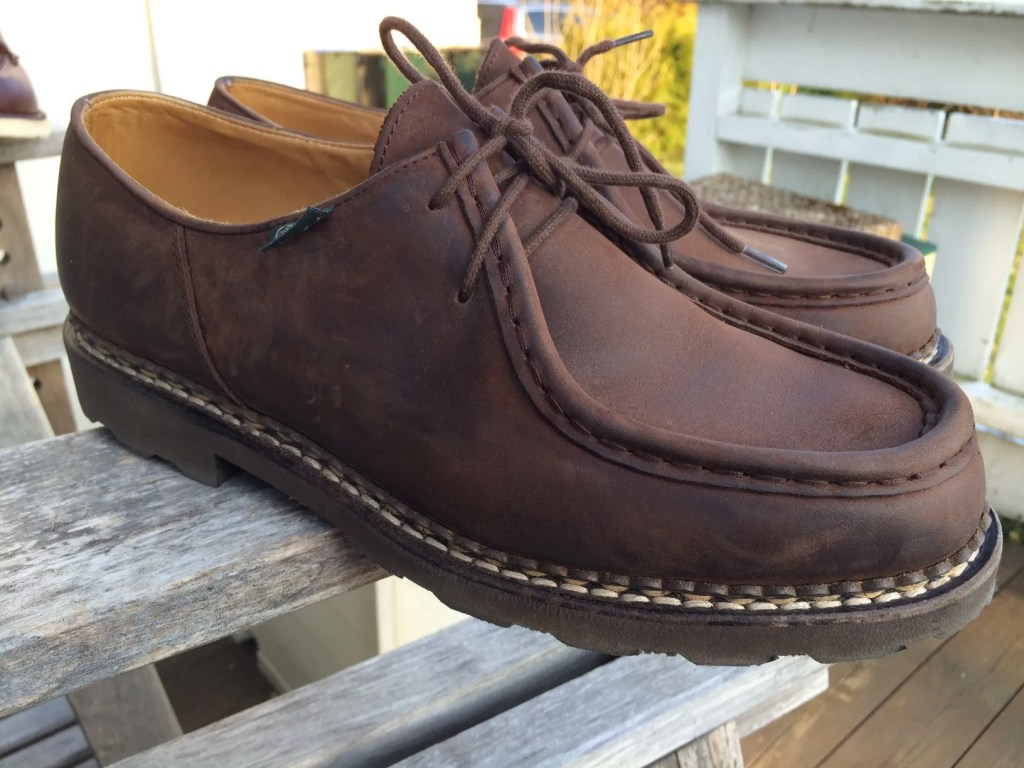 The Paraboot Michael has a truly classic moccasin toe silhoutte, often imitated.