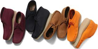 An array of Clarks Wallabees