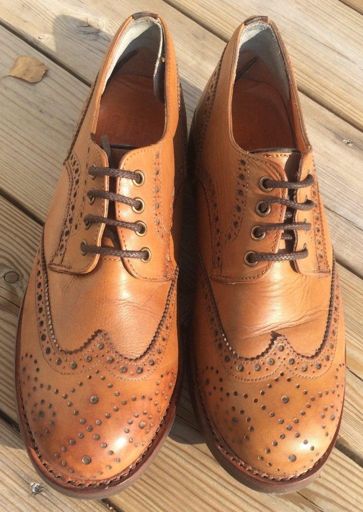 After a vacation at Shoehealer in Doncaster in the North of England, the brogues are back, suitably refreshed.