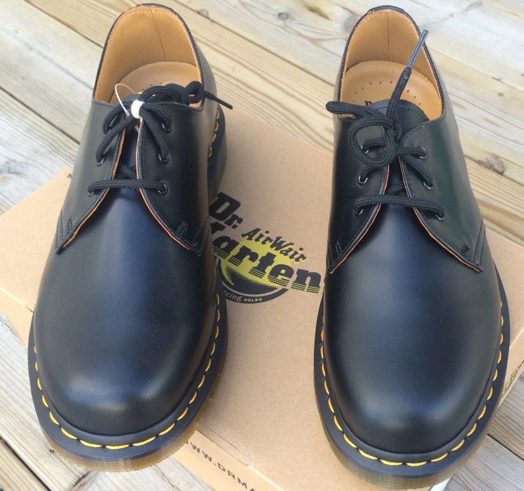 A brand new pair of classic Dr Martens arrive!