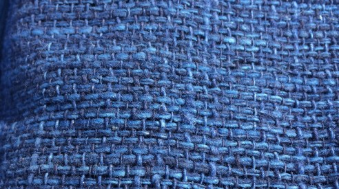 Super-indigo scarf as arrived from Thailand.