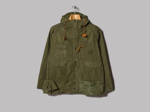 Monitaly mountain parka made using 1950's vintage army tents (link)