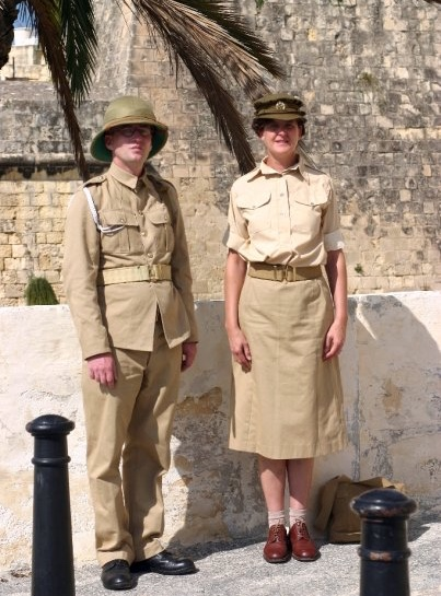 male and female soldier north africa