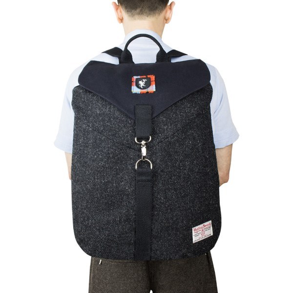 Kara Keddie Harris Tweed backpack.