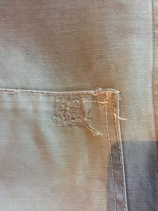 One small original repair was included on the rear of the waistcoat.