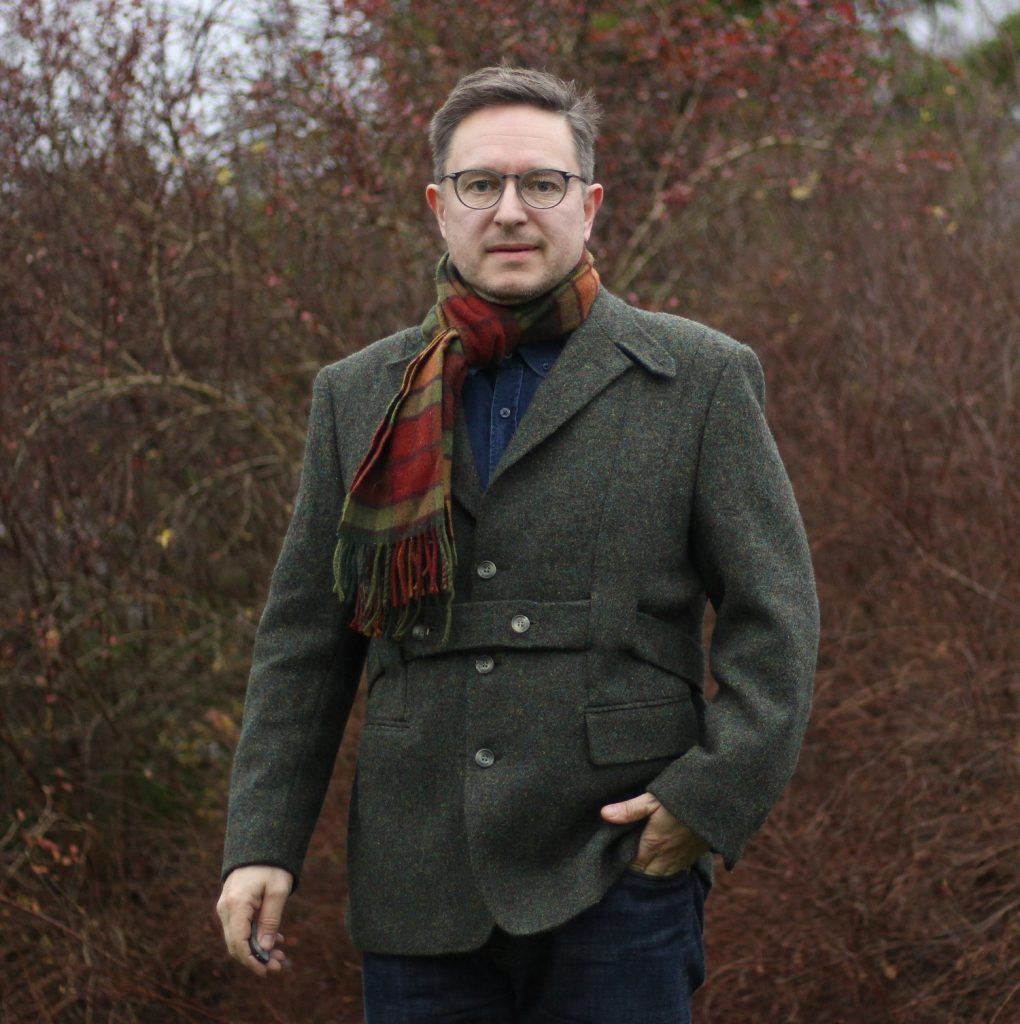 And here we have it, one happy owner of a custom made Norfolk jacket in an extraordinary Harris tweed!