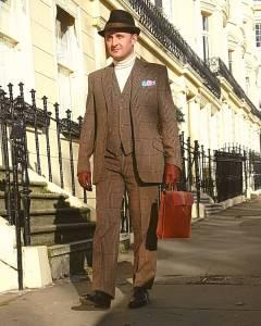 1971 Sullivan Woolley of Savile Row Three Piece Tweed with 1974 Bespoke Foster & Son Oxfords