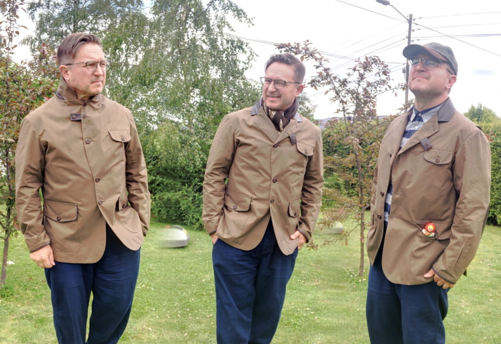 Three styles of wearing the Cordings Wayfarer.