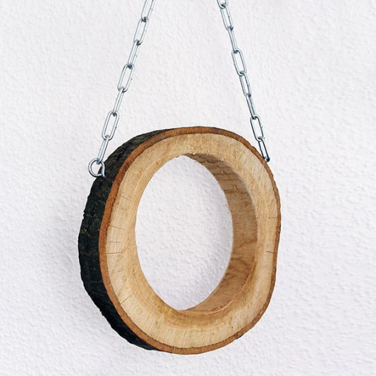 Holzring mit Rinde