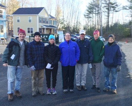 Our crew ready to work at Habitat for Humanity in Wayland