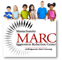 Photo of six Children with the Massachusetts Aggression Reduction Center (MARC) logo