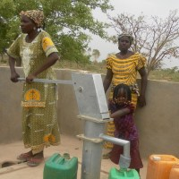 The new well in GoGo, Burkina Faso