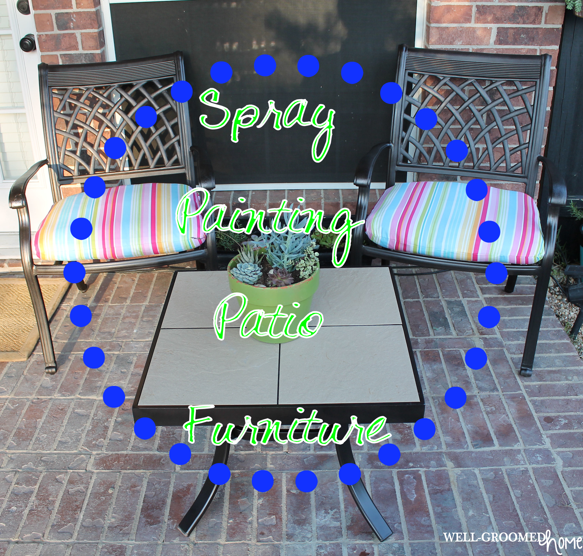 Painting Patio Furniture Well Groomed Home