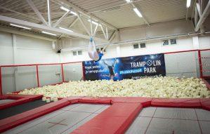 Trampolin Park olympic trampoline flying
