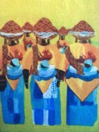 Keti Koti Yellow and Blue-Auli Mousumi De
