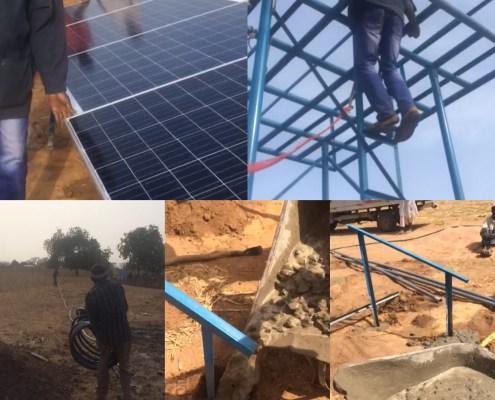 Bouw van watervoorziening in Gambia