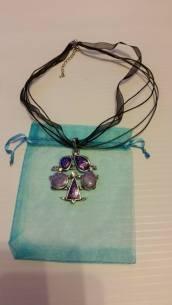 Purple Pendant Necklace Starting Bid- £1