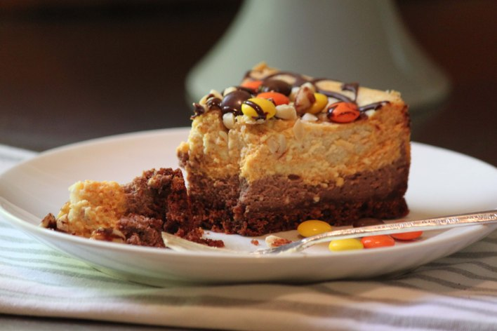 Chocolate, Pumpkin and Peanut Butter Cheesecake