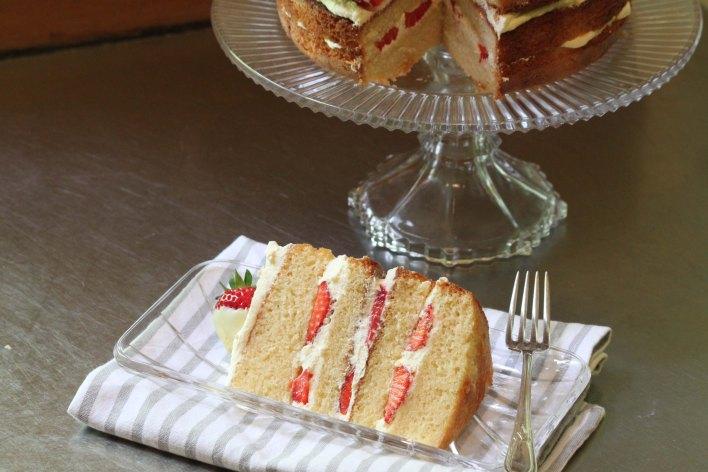 Strawberry Champagne Layer Cake