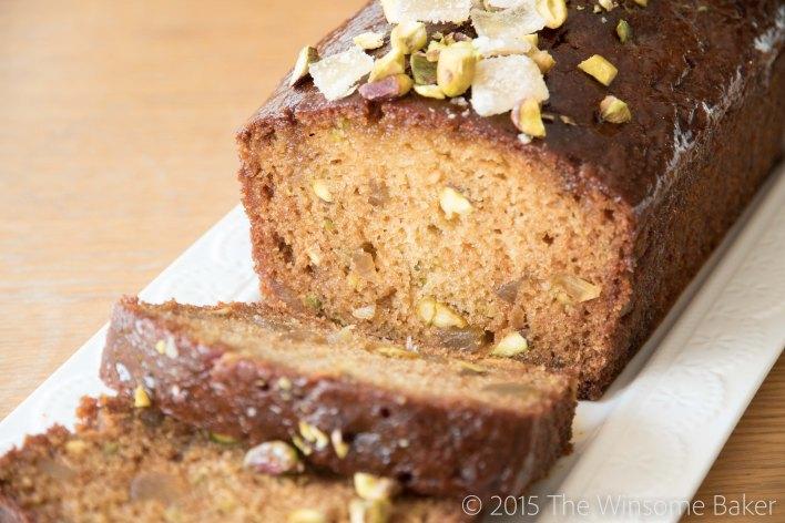 Honey Ginger + Pistachio Syrup Cake-14