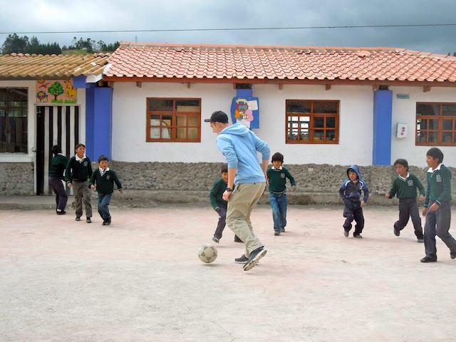 Kids in San Miguel, Ecuador