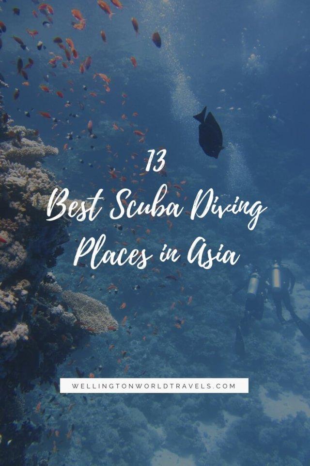 13 Best Scuba Diving Places in Asia - Wellington World Travels | Travel guide | Travel destination | travel bucket list ideas
