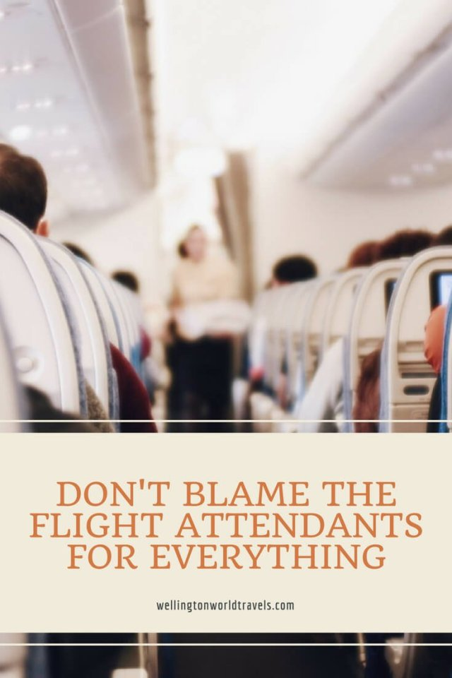 Don't Blame The Flight Attendants for Everything - Wellington World Travels | flight attendant life | stewardess life | cabin crew life
