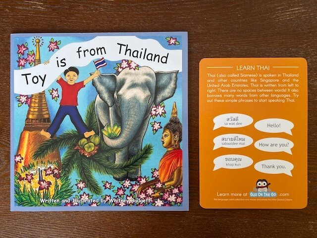 Toy is from Thailand book - Little Global Citizens