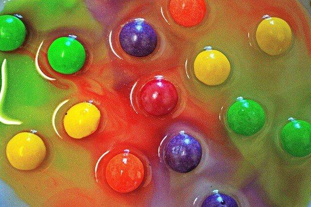 skittles rainbow steam activity